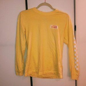 Yellow Vans Long Sleeve Shirt